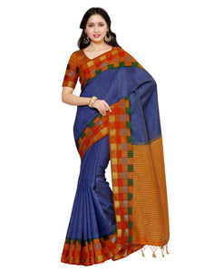 Mimosa tussar silk saree with unstiched blouse - grey