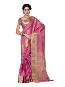 MIMOSA Beautiful Zari Design Tussar Silk Saree with Blouse in Color Pink (3192-178-pink) - kupindaindia