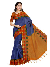 Mimosa tussar silk saree with unstiched blouse