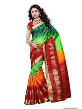 Mimosa uppada art silk saree with unstiched blouse -