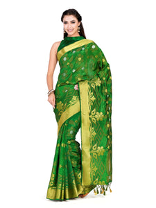 MIMOSA Women's Uppada Pattu Style Art Silk Saree with Blouse - kupindaindia