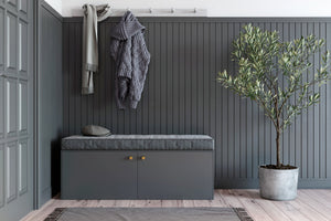 Besta Bench with Gray Amelia