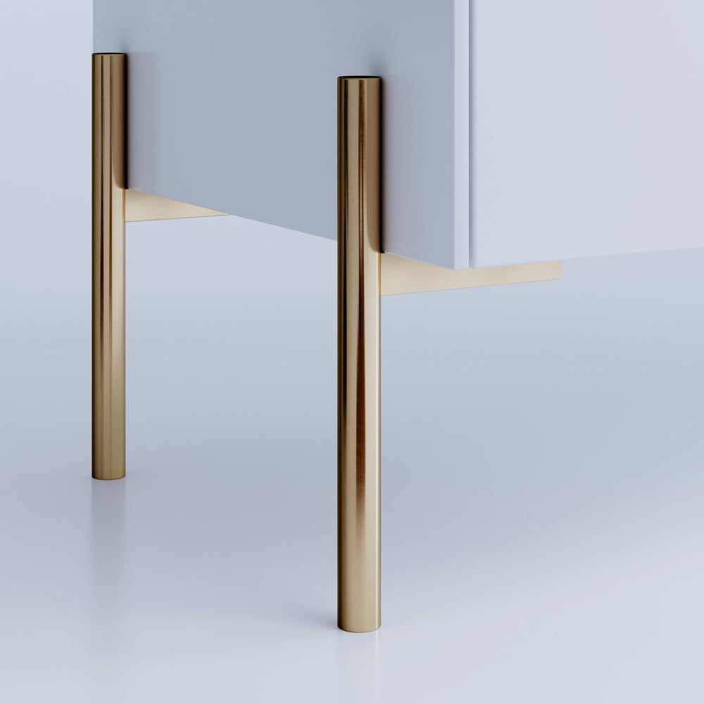 Brass Furniture Legs in Steel Sara