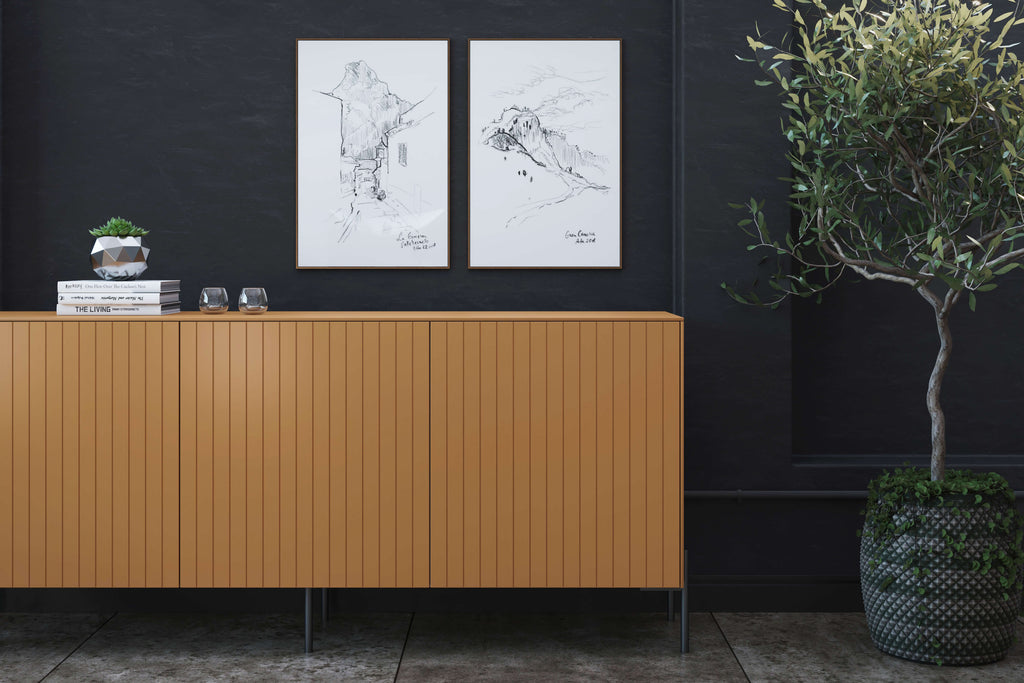 Tanned leather doors for IKEA Besta