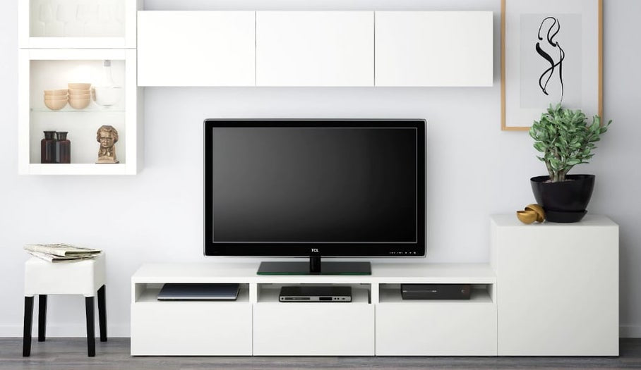 IKEA Besta cabinets used for entertainment area