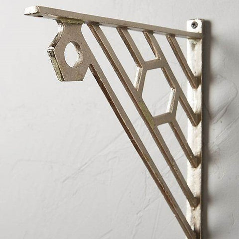Antique brackets for shelf