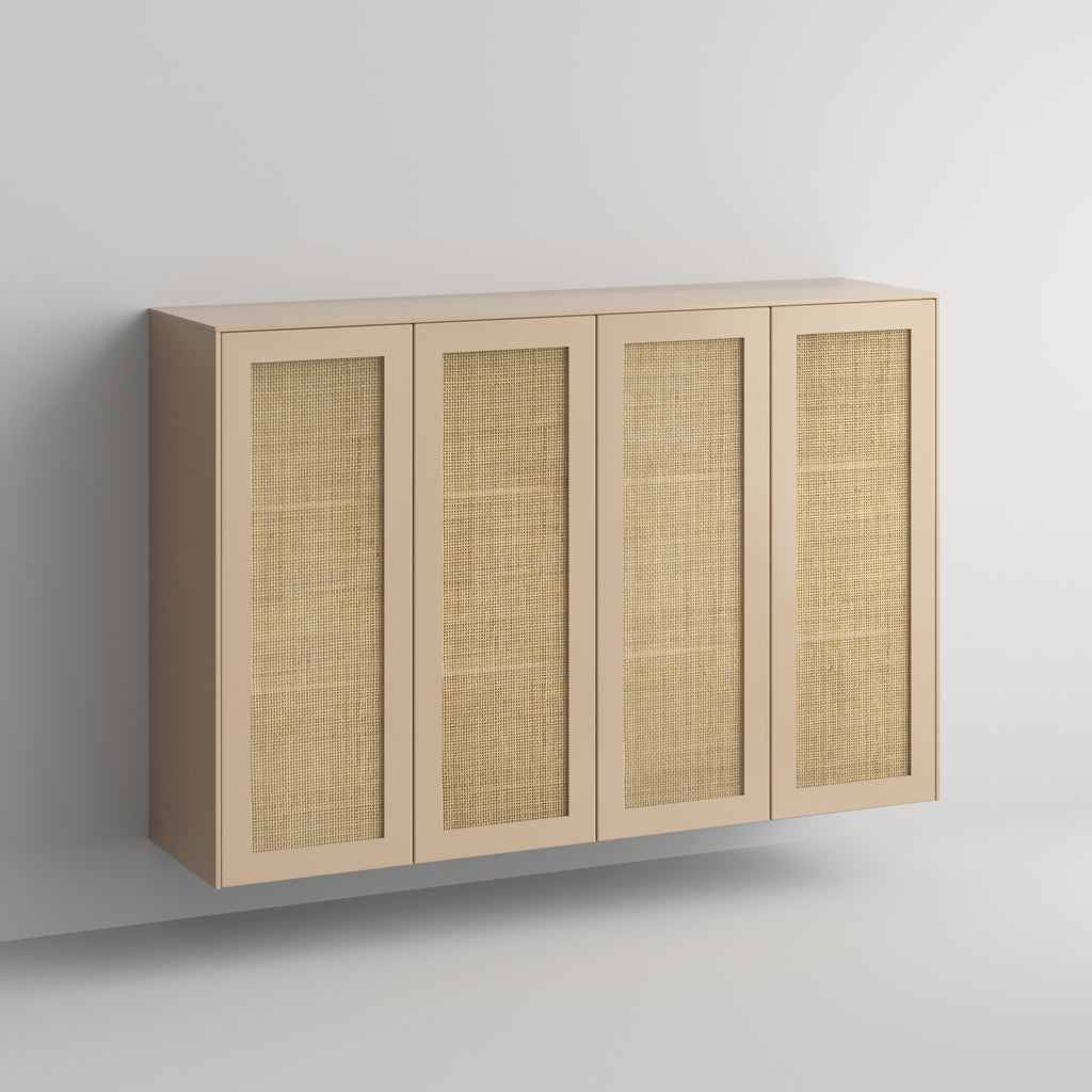 Cane doors and panels in Earthy Sand on Sektion sideboard IKEA