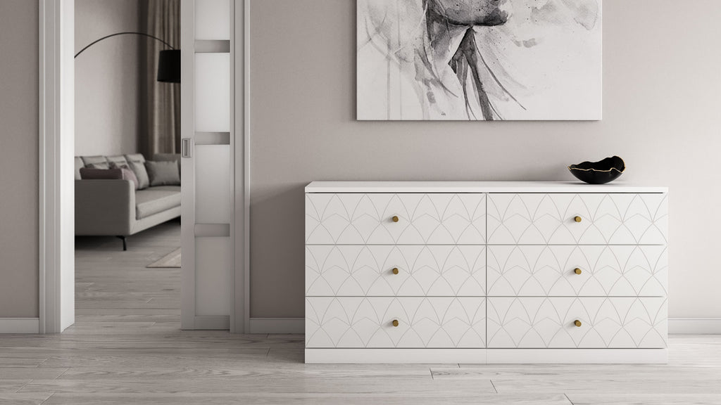 White Malm dresser customized