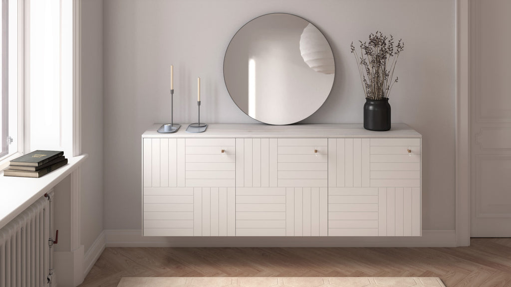 White Marie doors on Besta from IKEA
