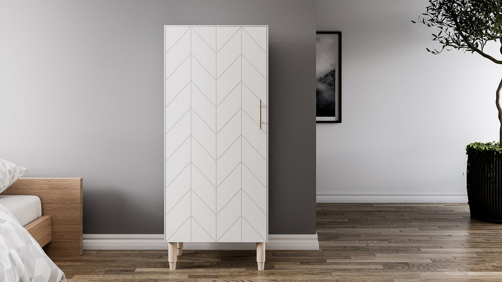 Storage Cabinet Eleanor Besta in White Lace
