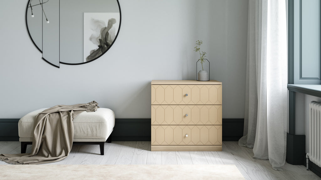 Malm dresser customized with Norse