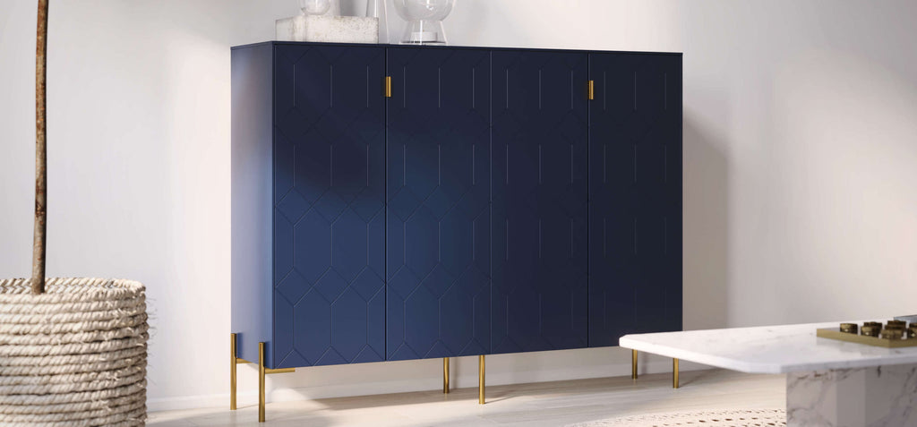 Norse Interior's Susan sideboard on IKEA sektion cabinet