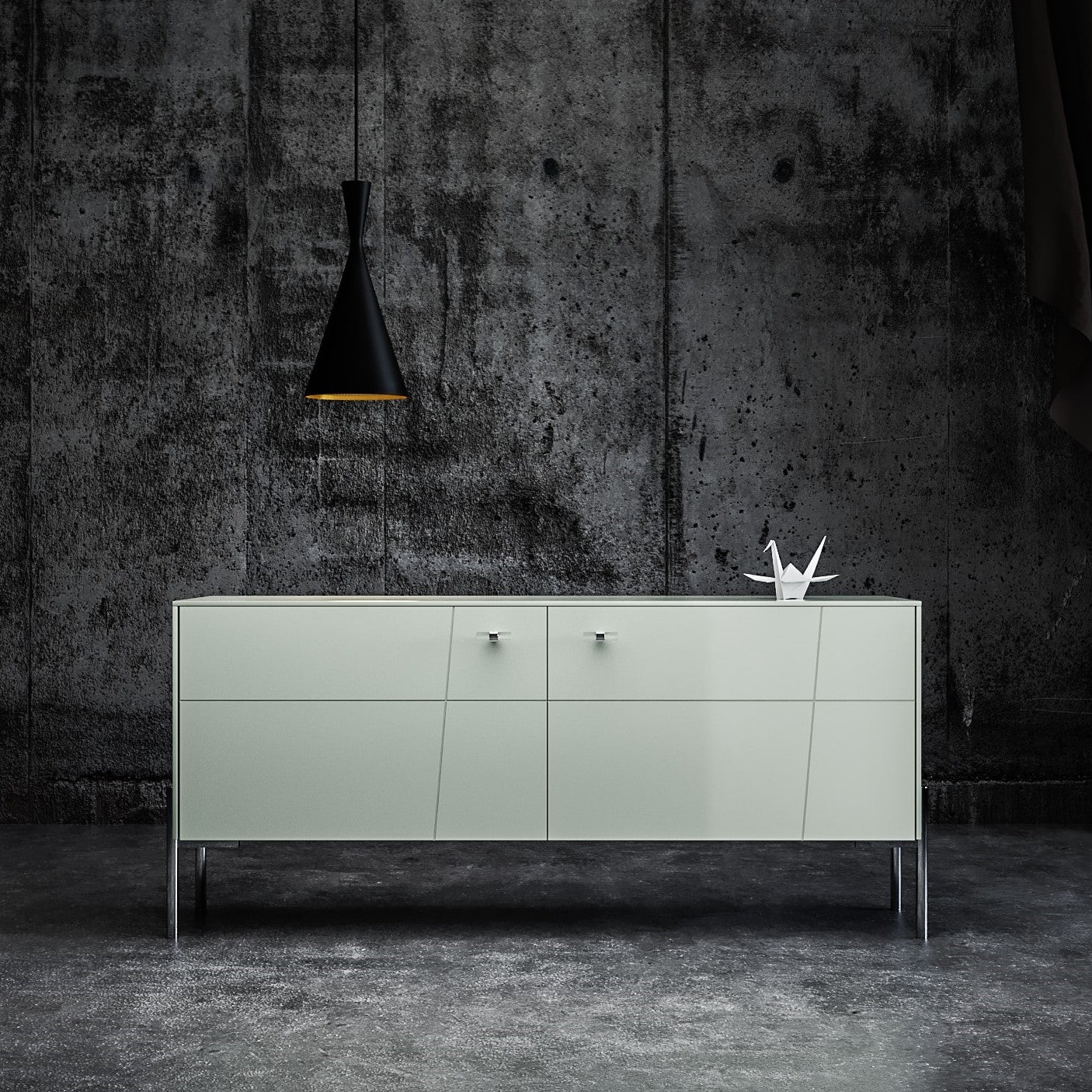 TV Stand Rosa in Silver Sage on IKEA Besta