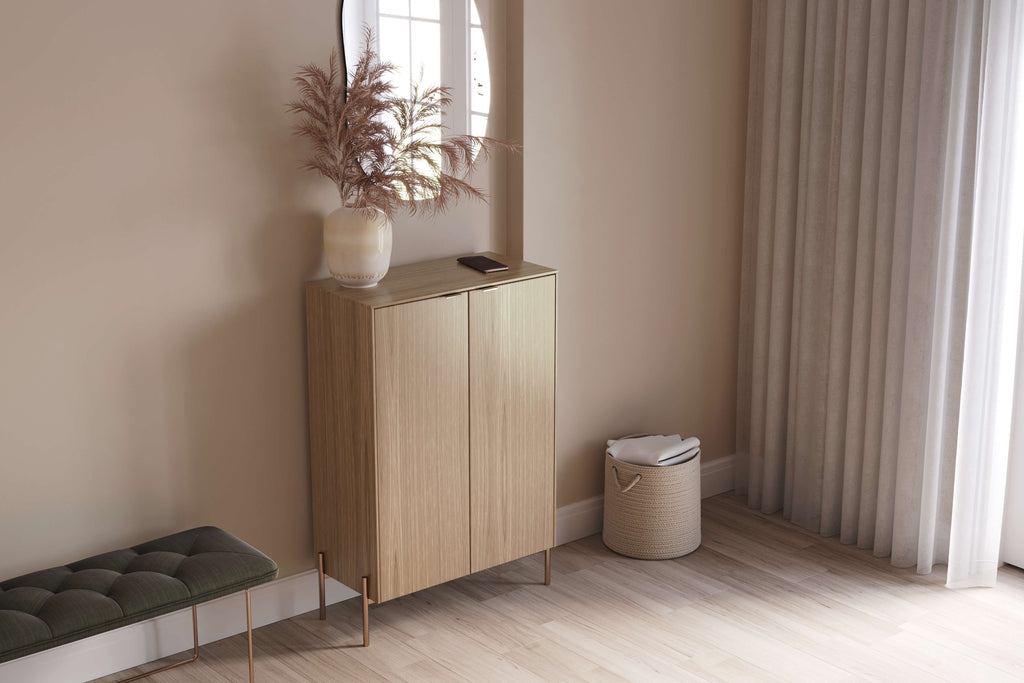 White oak doors and panels on a Sektion sideboard from IKEA