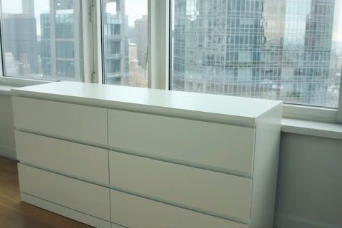 An original IKEA malm dresser in white