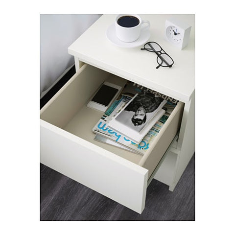 Ikea Malm Nightstand in white