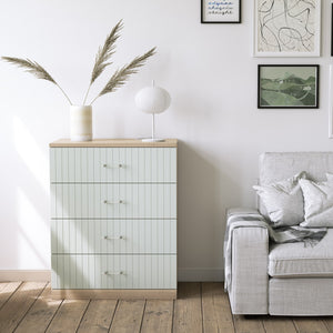 Astrid Dresser Drawer Fronts for IKEA Malm in Silver Sage