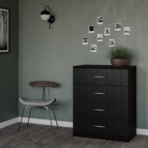 Eleanor Dresser Drawer Fronts for IKEA Malm Charcoal Black