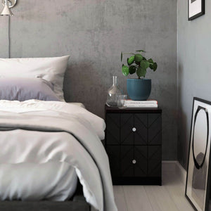 Eleanor drawer fronts Charcoal Black IKEA Malm nighstand