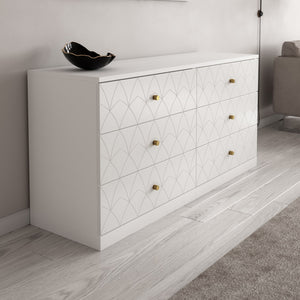 Joan Dresser Drawer Fronts for IKEA Malm in White Lace