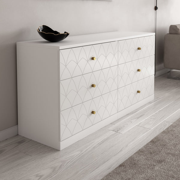 IKEA Malm Dresser Drawer Fronts Joan in White Lace