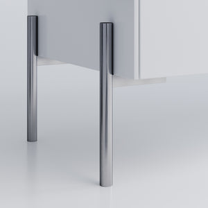 Chrome Furniture Legs in Steel Sara