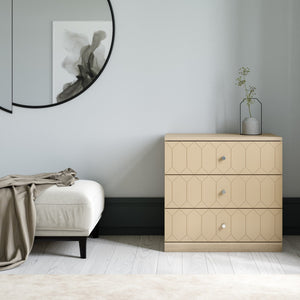 Susan Dresser Drawer Fronts for IKEA Malm in Earthy Sand
