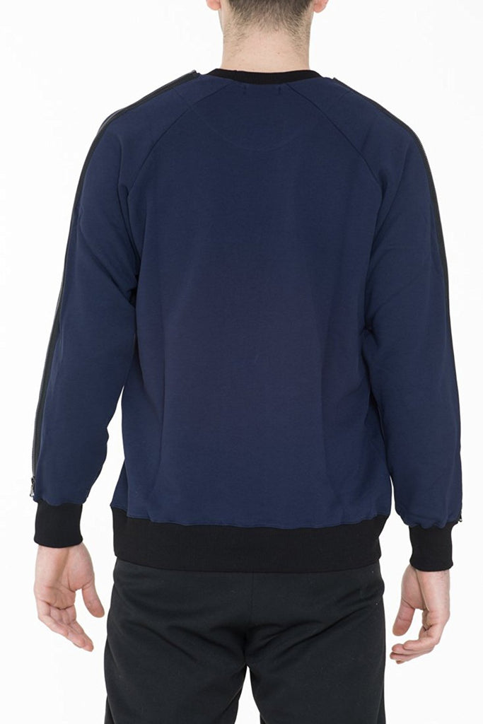 BRIIT Colour Block, Raglan Sleeve Sweatshirt with Metal Zipper Detail