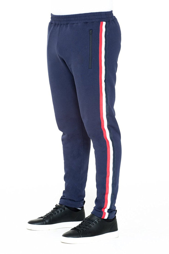 BRIIT Jogging Pants with Stripy Side Band Detail