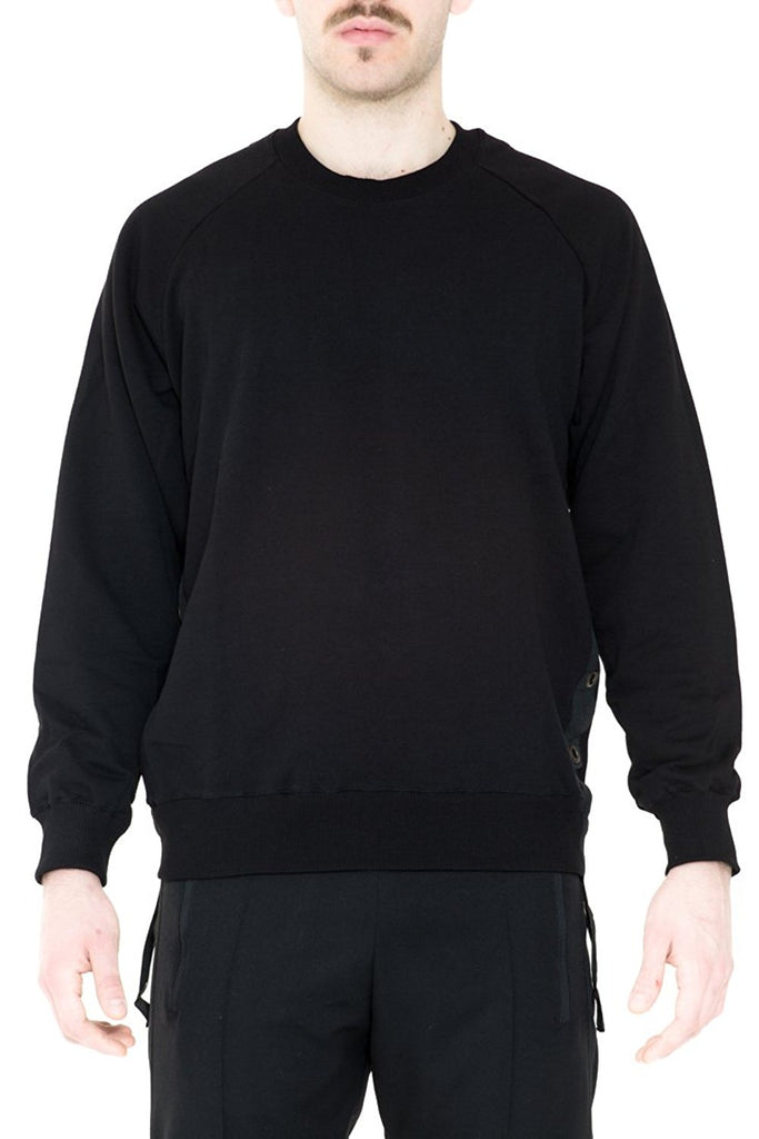 BRIIT Raglan Sleeve Sweatshirt with Eyelets Side Band Detail