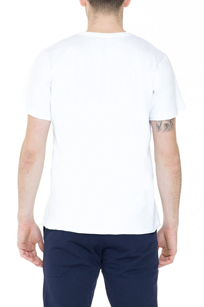 BRIIT T-Shirt with Raw Cut Edges and Embroidered Logo