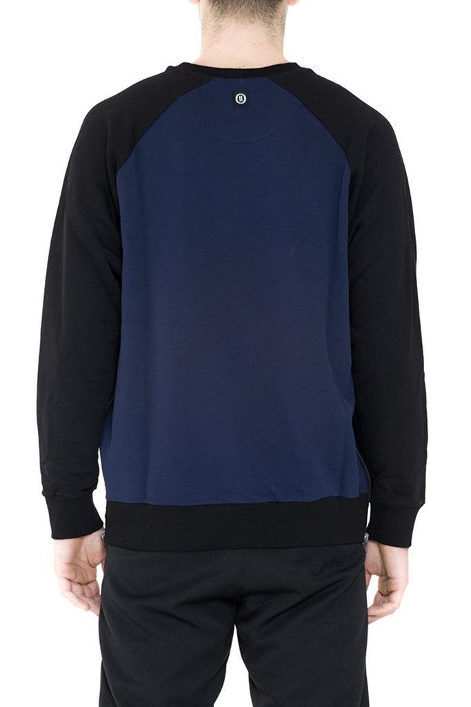 BRIIT Raglan Cut Sweatshirt with Side Zip Detail