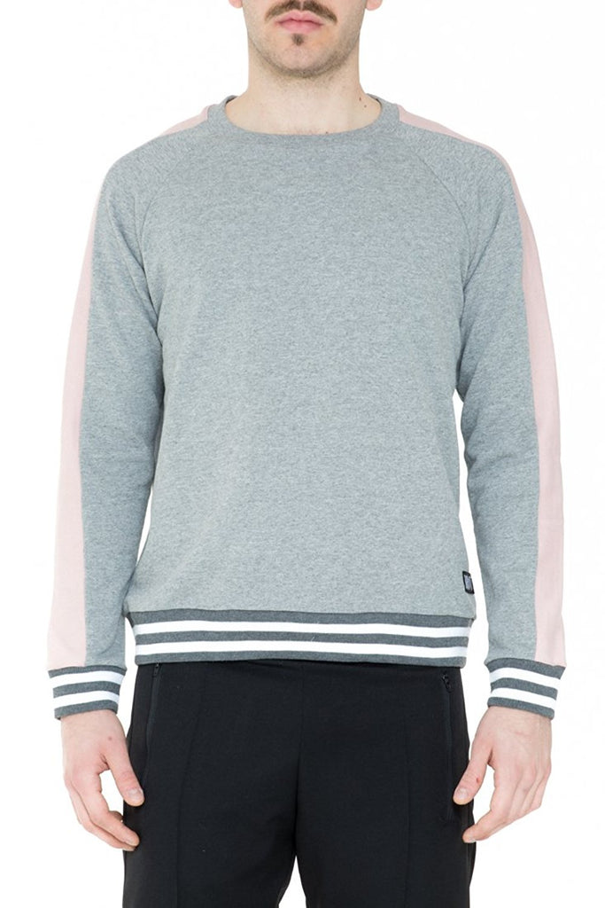BRIIT Colour Block Raglan Sleeve Sweatshirt with Knitted Detail