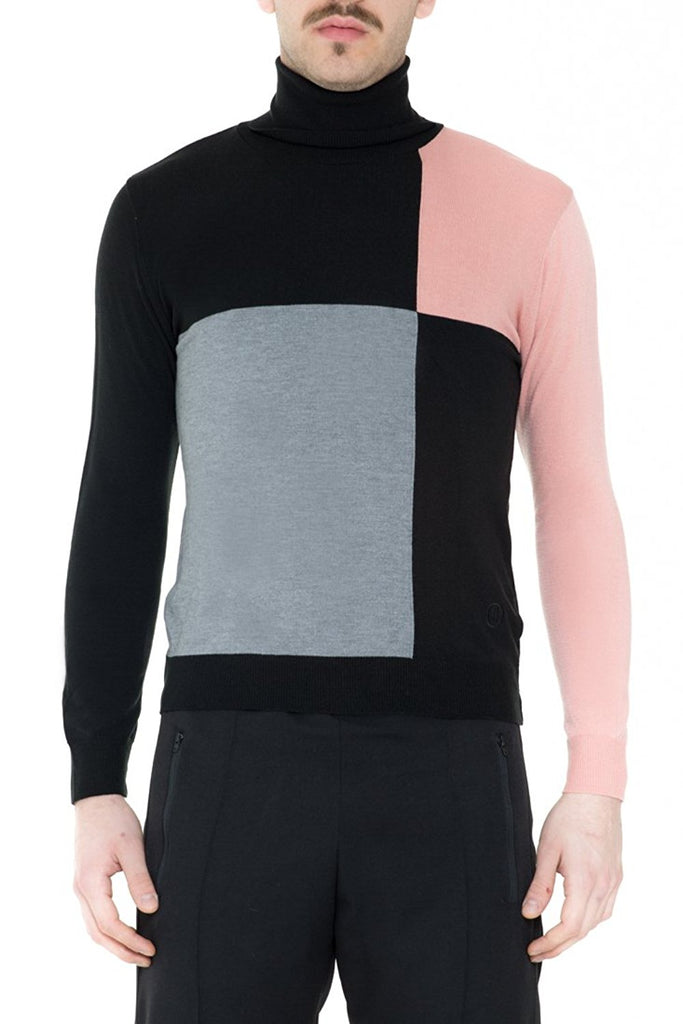 BRIIT Colour Block, Roll Neck with Embroidered Logo