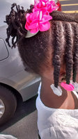 Little Girl Wearing GaBBY Bows
