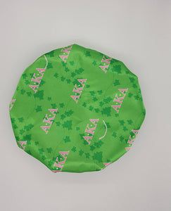 Alpha Kappa Alpha Sorority Adjustable Satin Bonnet (Extra Large)(Lined)