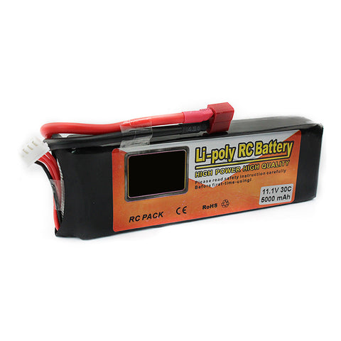 Li-polymer Power Lipo Battery 11.1V 5000mAh 3S 30C