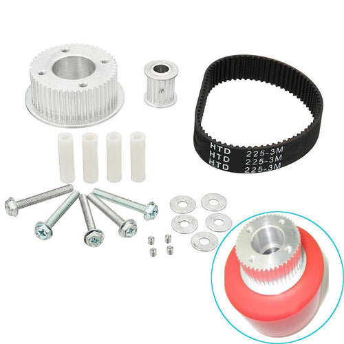 17PC Electric Skateboard Pulley Motor Mount Drive Kit Parts for 80MM Wheels