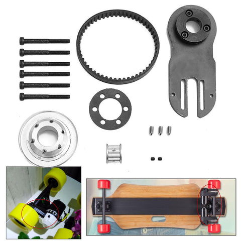 Electric Skateboard Parts Pulleys Motor Mount Kit Tool for 83/90/97mm Wheels