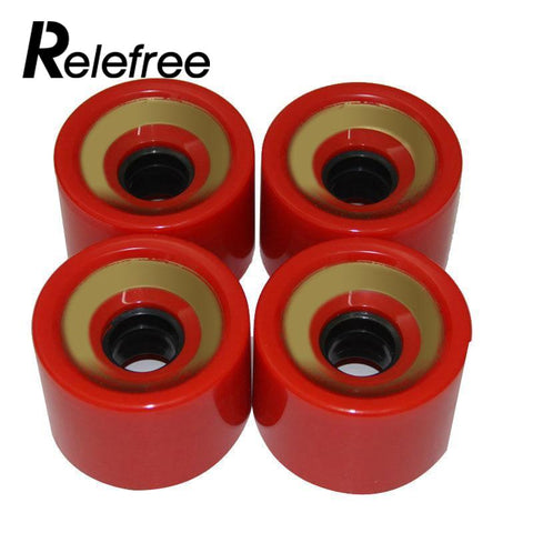 High Quality 70mm,x51mm Cruiser Skateboard Wheels Fish Board Durable PU Wheels Longboard Cruiser Wheels Bearings