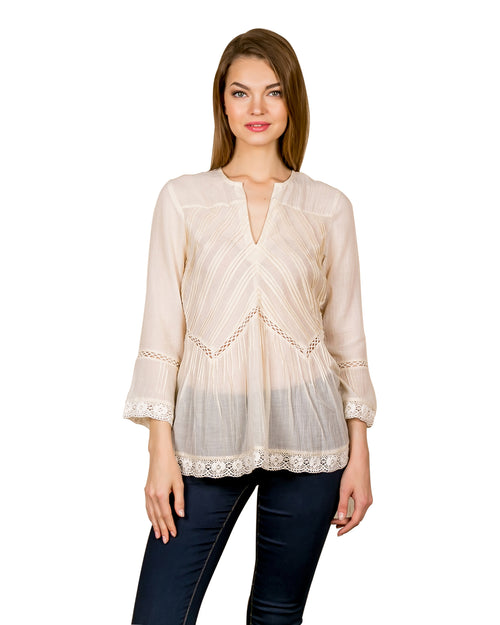 Shimmery Shore Summer Tunic Top