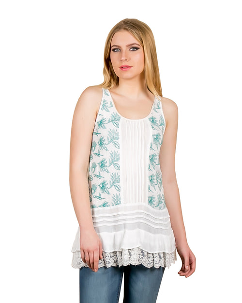 Embroidered Tiered Tunic Top