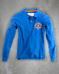 POLO HOMME LONG SLEEVES AFAS 09 BLUE ROYAL