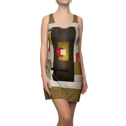 Women's Cut & Sew Racerback Dress Abstract Multiplo