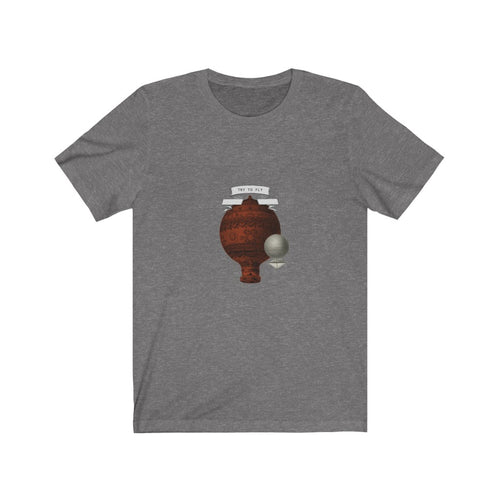 Try to fly vintage balloon mongolfiera t shirt Unisex Jersey Short Sleeve Tee