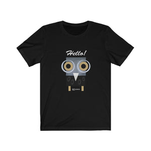 Barny the owl hello t shirt Unisex Jersey Short Sleeve Tee Hello