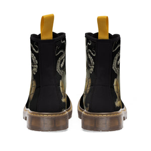 Women's Canvas Boots Beware of pulpos