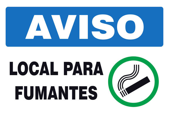 Aviso - Local para Fumantes
