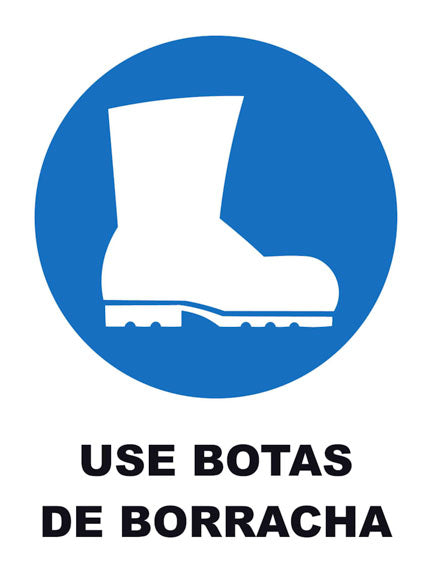 Use Botas de Borracha