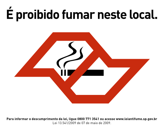 Lei Anti Fumo SP - É Proibido Fumar Neste Local